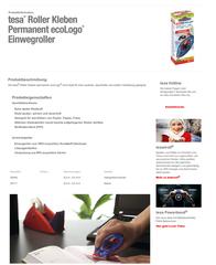 TESA Non-permanent glues 8,4 mm 59171 Data Sheet