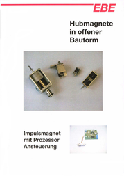Ebe Group TDS-04C, 0.08/3 N electromagnet, 24 Vdc 1.5 W M2 3100014 Data Sheet