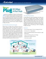 Actiontec MegaPlug 85Mbps & Adapter Kit HLE08509-01KE Leaflet