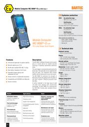 Bartec MC 9090-G 17-A119-0GJ0HCEFA600 Leaflet