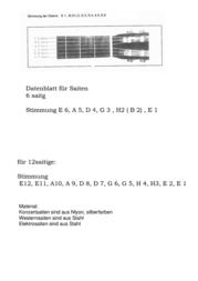 Msa Musikinstrumente Guitar steel string SK40 009-042 SK40 Data Sheet