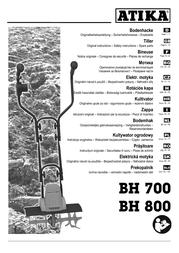 ATIKA bh 700 User Manual