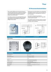 """Kopp Wet-room programme RCD socket """"ARKTIS"""" White IP44 916902016 Data Sheet"""
