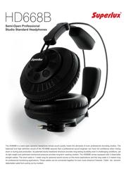 Superlux HD668B Leaflet