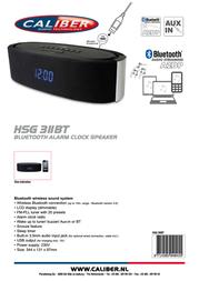 Caliber HSG311BT Leaflet