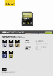 Intenso SD Card 2048MB 3401440 Leaflet