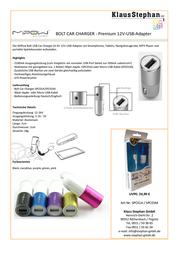 MiPow Bolt SPC01M-NB Data Sheet