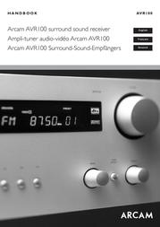 Arcam AVR100 User Manual
