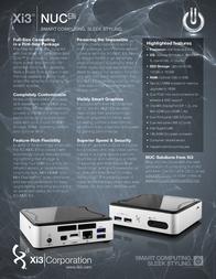 Xi3 Corporation Nuc Elli 910-88G6-000 Merkblatt