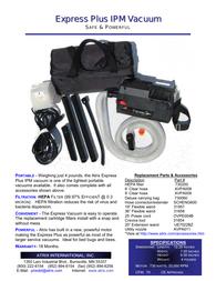 Atrix express hepa vacuum Specification Guide
