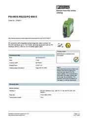 Phoenix Fiberconverter 2708371 User Manual