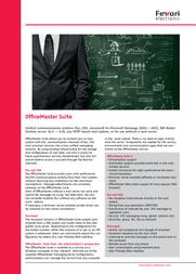 Ferrari electronic OfficeMaster 49010 Leaflet
