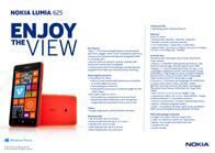 H3G Nokia Lumia 625 LUMIA625W Merkblatt