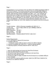 Sabrent EC-3US25 Leaflet