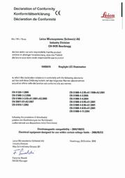 Leica Microsystems 30 x 10450311 10450311 Data Sheet