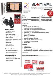 A-Rival NAV-PNF5-EU-TMC Leaflet