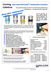 Cablecon F-Con F-56 5.1 Self-Install 99909644-01 Leaflet