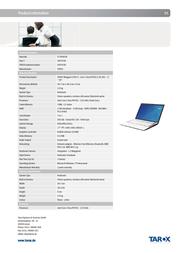 Tarox 0907030 User Manual