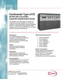Comet Satellite Radio 317C Leaflet