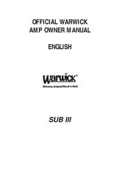 Warwick SUB III User Manual