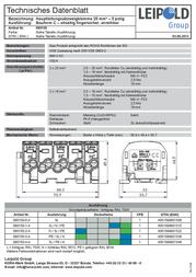 Leipold Group Main tap terminal 5-pin 25 mm² Conductor type = PE, L, N 080150-3-4 080150-3-4 Data Sheet