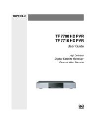 Topfield TV Receiver TF 7700 HD PVR User Manual
