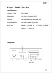 Chieftec Hi-Fi Series HE-01 Black HE-01B-OP User Manual