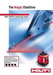 Hilti PR 16 User Manual