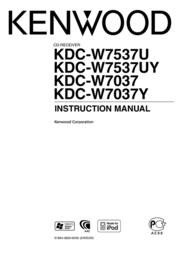 Kenwood Electronics WAV/ AAC/ WMA/ MP3/ CD-Receiver with USB I/F KDC-W7537U User Manual
