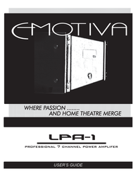 Emotiva LPA-1 User Manual