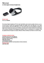 TELE System TS1.4 LU 23500049 Leaflet