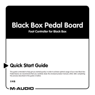M-AUDIO Black Box Pedal Board User Manual