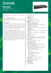 OvisLink FSH16W Leaflet