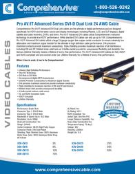 Comprehensive X3V-DVI50 Leaflet