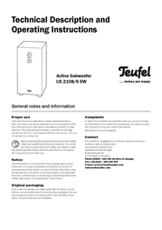 Teufel Concept E 150 Control 102911001 User Manual