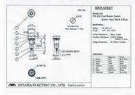 Miyama Pushbutton switch 125 Vac 3 A 1 x Off/On DS-258, BLUE latch 1 pc(s) DS-258, BL Data Sheet