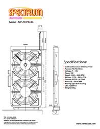 Vantec Spectrum Fan Card SP-FC70-BL Leaflet