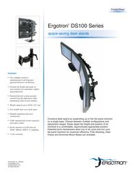 Ergotron DS100 Quad Monitor Desk Stand. Black 33-096-200 Leaflet