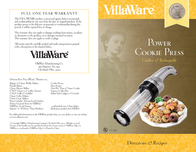 VillaWare Cookie Press Cordless & Rechargeable User Manual