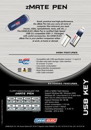 Dane-Elec zMate Pen 1Gb USB 2.0 DA-ZMP2-1024 Leaflet