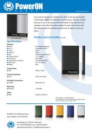 PowerOn HT-18A CASE-USB218-20 Leaflet