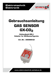 Schabus Gas sensor 200989-C2 detects Carbon dioxide 200989-C2 User Manual
