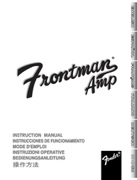 Fender Frontman 15G User Manual