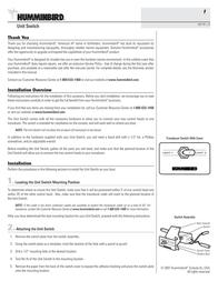 Humminbird Unit Switch User Manual