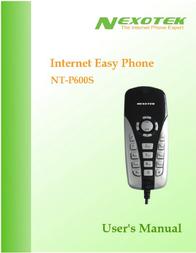 Nexotek NT-P600S User Manual