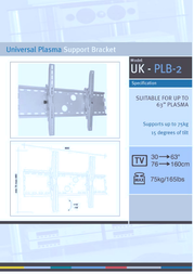 "Iconic Universal Plasma Support Bracket - Up to 60"" - PLB02 PLB02 LARGE Leaflet"