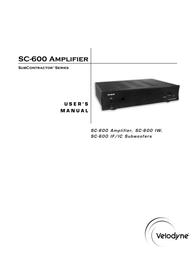 Velodyne sc-600 User Guide