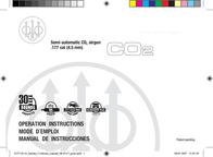 Beretta Semi-automatic CO2 Airgun 2253005 User Manual