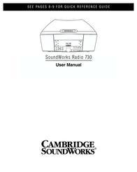 Cambridge SoundWorks SoundWorks Radio 730 User Manual