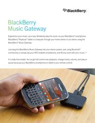 BlackBerry Music Gateway ACC-41596-003 Leaflet